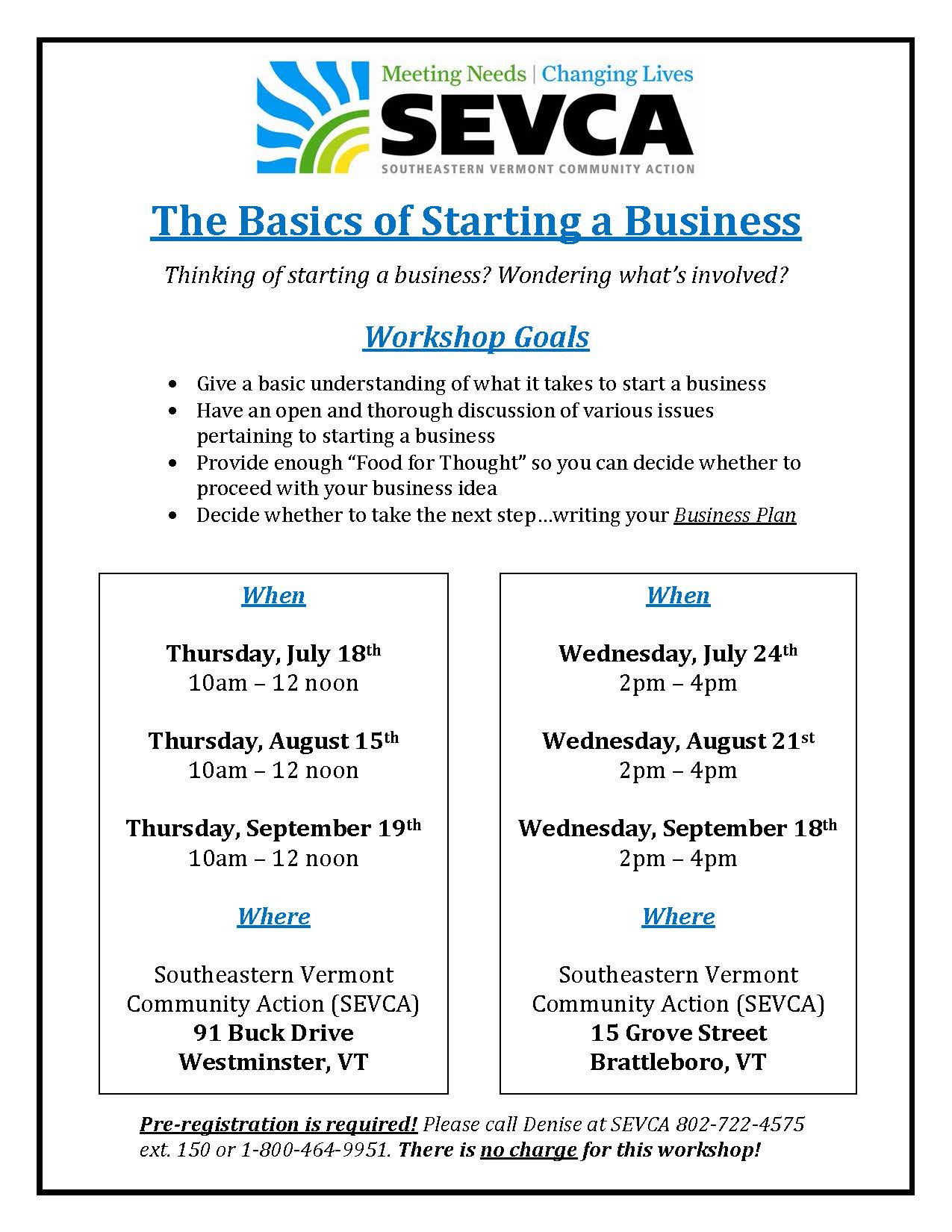 Starting a Business Workshop 2019 2